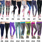New Womens Yoga Fitness Sport Running Pants High Waist Jogging Workout Trousers