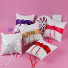 Many Colors Wedding Ring Pillow Cushion Lace Satin Rose Ribbons for Bridal Decor