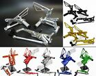 Adjustable Rearsets Foot Rest Pegs For 06-12 TRIUMPH Daytona Street Triple 675 R