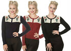 BANNED DANCING DAYS MERMAID MAIDEN CARDIGAN 8-22 EMBROIDERED BLACK BURGUNDY NAVY