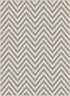 Gray Transitional Casual Striped Chevron Triangle Outdoor Rows Lines Area Rug