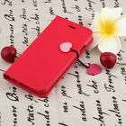 New Cherry Case PU Leather Flip Cover For iphone6/6s/7 Plus Card Wallet Case