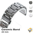 Generic 22mm Ceramic Deluxe Classic Watch Strap Band for Wrist Watch + Tools