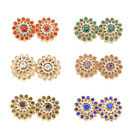 2 Pc Crystal Rhinestone Flower Magnetic Hijab Scarf Magnet Pin Brooch Clip Women