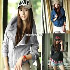 Womens Long Sleeve Zip Up Outerwear Sweatshirt Hoodie Coat Jacket Tops N4U8