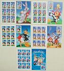 Five Booklets x 10 = 50 LOONEY TUNES Bugs Bunny Complete set US Postage Stamps