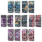 HEAD CASE DESIGNS NEBULA TRIBAL LEATHER BOOK CASE FOR APPLE iPHONE 5 5S SE