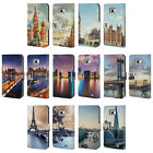 HEAD CASE DESIGNS CITY SKYLINES LEATHER BOOK CASE FOR SAMSUNG GALAXY S2 II
