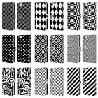 HEAD CASE DESIGNS BNW PATTERNS LEATHER BOOK WALLET CASE FOR APPLE iPHONE 5 5S SE