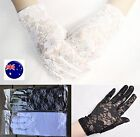 Women Lady Black White Opera Hen's night Lace Fancy Party short Costume Gloves