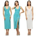 Sexy Lady Women V-Neck Slim Sleeveless Tank Dress Long Maxi Summer Charming N4U8