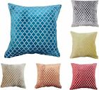 Luxury Velvet Textured 43x43cm Cushion Cover Red Teal Orange Grey Yellow Teal