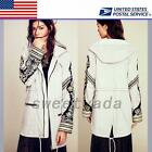 Embroidered Military Parka Women's Winter Outwear Overcoat Jacket Coat Top Warm