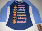 New Emoji shirt size S M L XL Long Sleeve shirt Emoji days of the week Emoji
