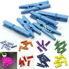 20-100X Mini Multicolor Wooden Clothe Photo Paper Peg Clothespin Craft Clips TC