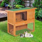 2-tier Rabbit Hutch Small Animal Wooden Bunnies House Outdoor Backyard 2 Sizes <br/> Order before 12am Mon-Fri for £1.99 next day delivery