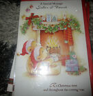 CHRISTMAS CARD SISTER AND FIANCE TRADITIONAL CUTE TEDDY GLITTER