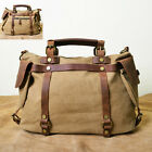 Vintage Retro new Women Canvas Leather Shoulder Bag handbag messenger bag BB96