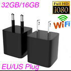 WIFI 32GB/16GB 1080P Hidden Camera Real Charger Adapter No Pin Hole Cycle DVR