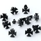 10pc Fashion Stainless Steel Black Lily Cross Ear Stud Earrings Cool Gift