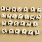 100/200/300PC10mm Natural Mixed Wooden Alphabet Letter Cube Craft Charms Beads