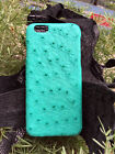 Just Fashion Genuine Ostrich Skin Leather Shell Case Cover for iPhone 6/ 6s Plus