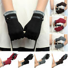 Fashion Cute Womens Touch Screen Winter Warm Weaved Knit Wrist-Gloves Mittens