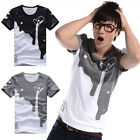 Fashion Casual T-shirts Tee Mens Short Sleeve Slim Fit Crew Neck Shirt Tops NE