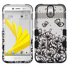 For Sprint HTC BOLT IMPACT TUFF HYBRID Protector Case Skin Cover +Screen Guard