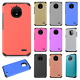 For ZTE ZMAX PRO Turbo Layer HYBRID KICKSTAND Rubber Case Cover + Screen Guard