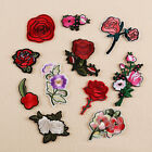 Embroidered Sew Iron on Patch Badge Rose Flower Bag Hat Dress Applique DIY