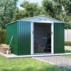 Metal Garden Storage Shed - Boxer Apex Galvanised Outdoor Heavy-Duty Steel Shed
