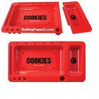 New COOKIES Cigarette Rolling Tray 2.0 w/ Slideout - Red  - by Berner Cookies SF
