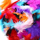 50 X FLUFFY MARABOU FEATHERS CARD MAKING EMBELLISHMENTS IN CHOICE OF COLOUR UK