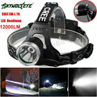 12000LM CREE XM-L T6 LED Headlamp Rechargeable Flashlight Head Light Lamp 18650
