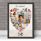 Personalised DAD Fathers Day Word Photo Picture Art Print Poster N125 (unframed)
