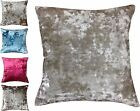 Crushed Velvet Super Soft 43x43cm Cushion Cover Red Silver Cream Beige Blue