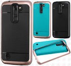 For LG Escape 3 K373 Frame HYBRID HARD Case Rubber Phone Cover Accessory