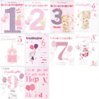 Granddaughter 1st 2nd 3rd 4th 5th 6th 7th 8th 9th or 10th Birthday Card ICG