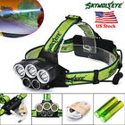 40000 LM  5X XM-L T6 LED USB Headlight Super Bright 5 Modes 18650 Flashlight MT