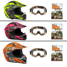 SHC Adult MX / ATV Helmet Realtree Xtra Camo, Camo Goggles and DVD