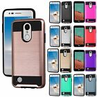 For LG Aristo LV3 Brushed Metal Texture Hard Slim Phone Case Cover