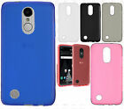 For LG Aristo Frosted TPU CANDY Gel Flexi Skin Case Cover +Screen Protector