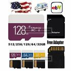 32 64 128GB Ultra Micro SD TF Flash Memory Card SDXC UHS-1 w/ADAPTER For Phone
