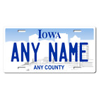 Personalized Iowa License Plate for Bicycles, Kid's Bikes & Cars Ver 1