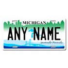 Personalized Michigan License Plate for Bicycles, Kid's Bikes & Cars Ver 2