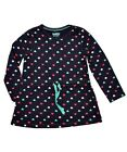 Girls Heart Print Tunic Dress Casual Long Sleeve Cotton Kids Dresses 12M-4YR