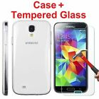 Tempered Glass Screen Protector + Case  for Samsung Galaxy S4 S5 S6 Note 4 5