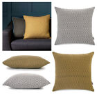 Diamond Geo Collection - Cushion & Throw - Luxury Throws Cushions MUSTARD GREY