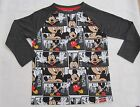 Boys Toddlers Mickey Mouse Cartoon Print T Shirt Kids Casual Top 12 mths to 5-6y